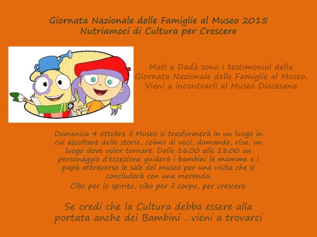 Giornata Nazionale delle Famiglie al Museo 2015 Nutriamoci di Cu